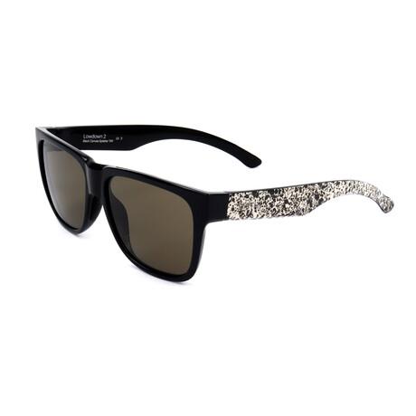 Unisex Lowdown Sunglasses // Black + White