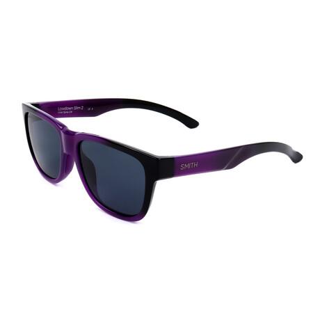 Unisex Lowdown Sunglasses // Violet + Black