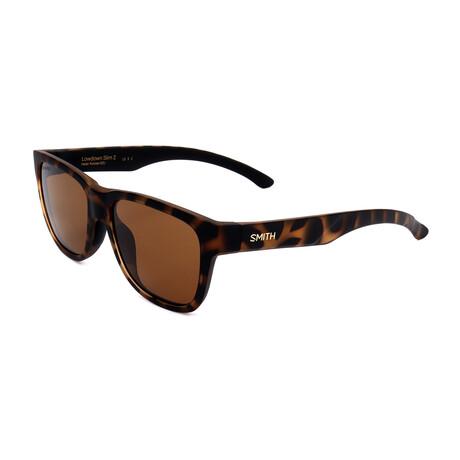 Unisex Lowdown Sunglasses // Dark Havana + Brown