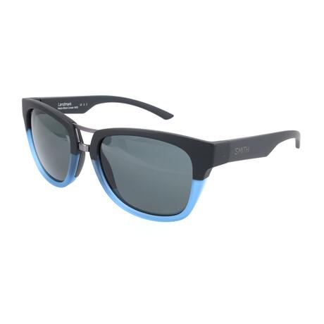Men's Landmark Polarized Sunglasses // Black + Blue