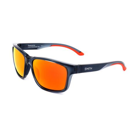 Smith // Men's Basecamp Sunglasses // Blue Crystal + Orange