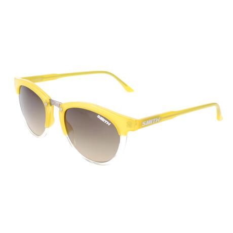 Unisex Questa Polarized Sunglasses // Shaded Yellow Crystal