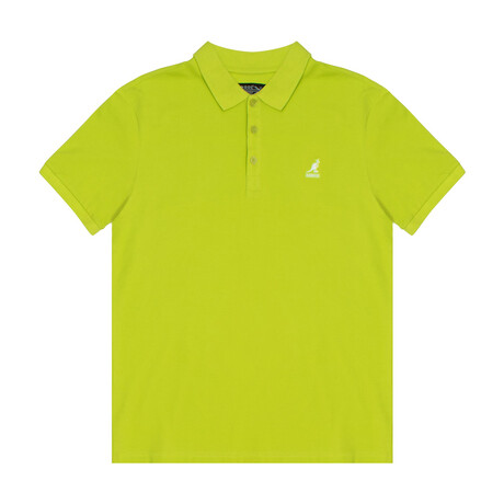 Bright Neon Pique Polo // Acid Lime (S)