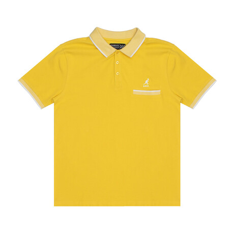 Pocketed Pique Polo + Jacquard Knit Trim // Sunstruck (S)