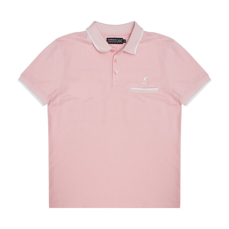 Pocketed Pique Polo + Jacquard Knit Trim // Tickled (S)