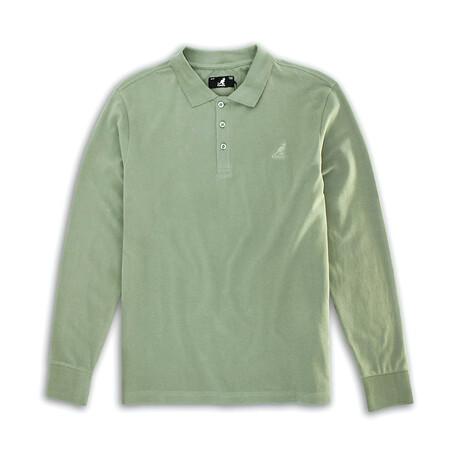 Solid Pique Long Sleeve Polo // Terrain Green (S)