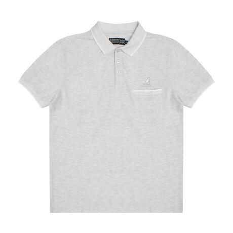 Pocketed Pique Polo + Jacquard Knit Trim // Ash Gray (S)