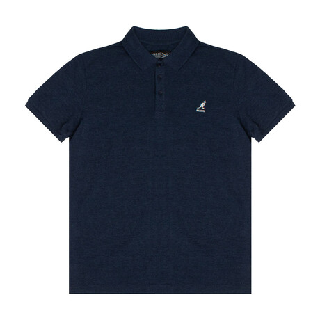 Yarn Dyed Heather Effect Pique Polo // Pageant Blue (S)