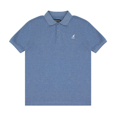 Yarn Dyed Heather Effect Pique Polo // Blue Lolite (S)