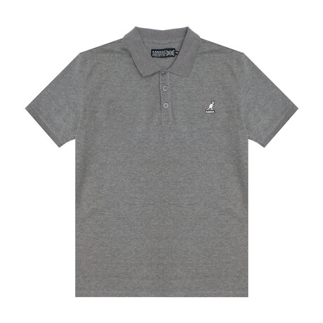 Yarn Dyed Heather Effect Pique Polo // Ash Gray (S)