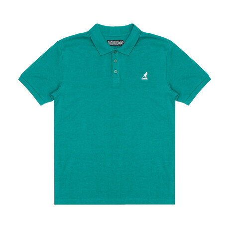 Yarn Dyed Heather Effect Pique Polo // Quetzal Green (S)