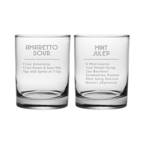 DOR Glasses // Set of 2 // Sweet & Sour  // 14 Fl. Oz