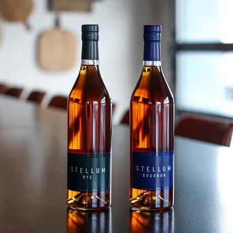 Stellum Collection // Rye + Bourbon // 750 ml Each