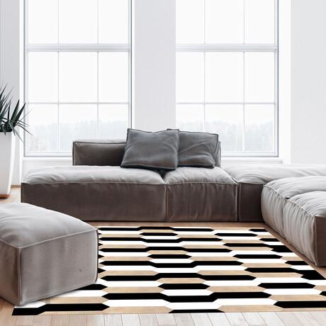 Black N White // Alfred Floor Mat (2' x 3')