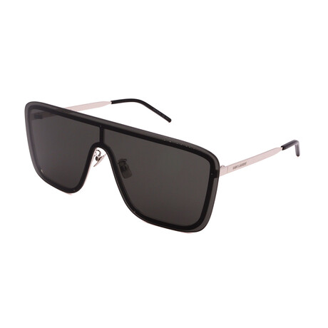 Yves Saint Laurent // Unisex SL364 Mask 001 Sunglasses // Silver