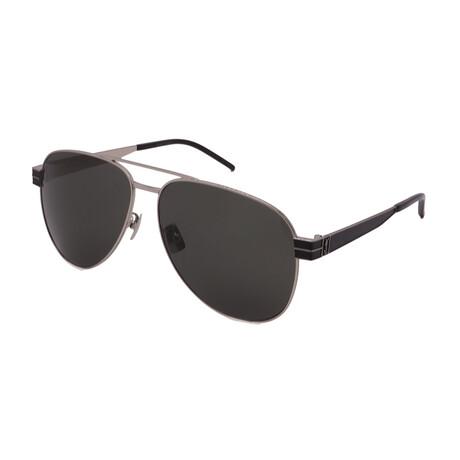 Yves Saint Laurent // Men's SLM53-002 Sunglasses // Silver