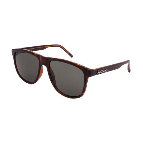 Yves Saint Laurent // Men's SL334-002 Sunglasses // Dark Havana