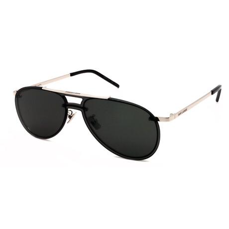 Yves Saint Laurent // Men's SL416-Mask-001 Sunglasses // Silver