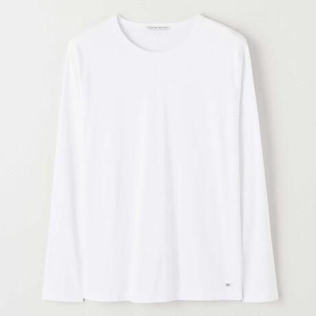 Abalone Long-Sleeve Shirt // Pure White (S)
