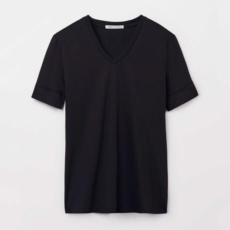 Diyon Short-Sleeve Shirt // Black (S)