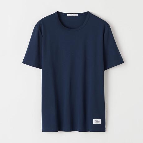 Olaf Short-Sleeve Shirt // Navy (S)