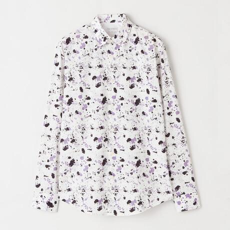 Farrell 4 Long-Sleeve Button Down Shirt // Purple (XS)