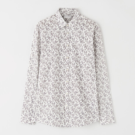 Ferene Shirt // White + Dark Amethyst (XS)