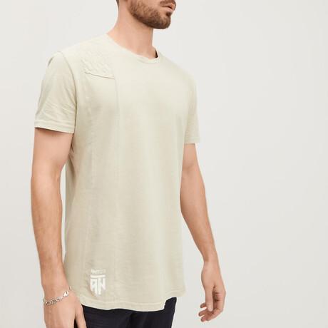 Viking Single-Quilted-Shoulder Tee // Light Khaki (XS)