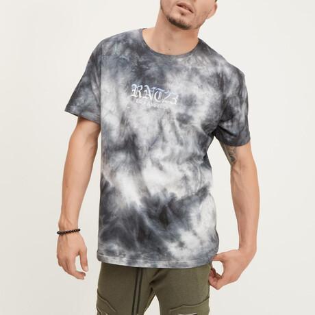 RNT23 Los Angeles Tie Dye Tee // Black + Ecru (XS)