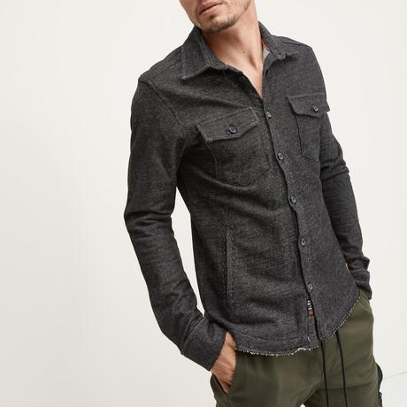 Knit Shirt-Jacket // Black (XS)
