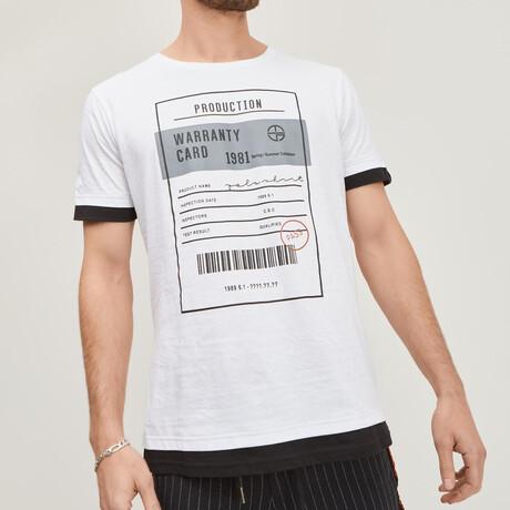 The Barcode Tee // White (XS)