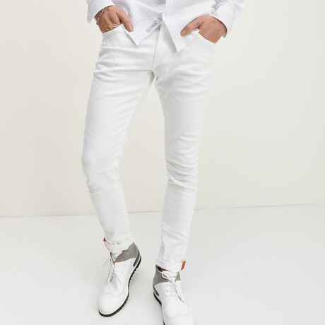 Milano Slim Fit Jeans // White (28WX30L)