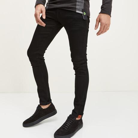 Milano Slim Fit Jeans // Black (28WX30L)