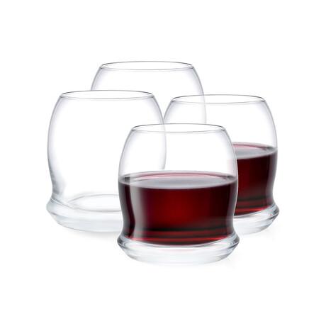 Cosmos Stemless Wine Glasses//  17.5 oz // Set of 4
