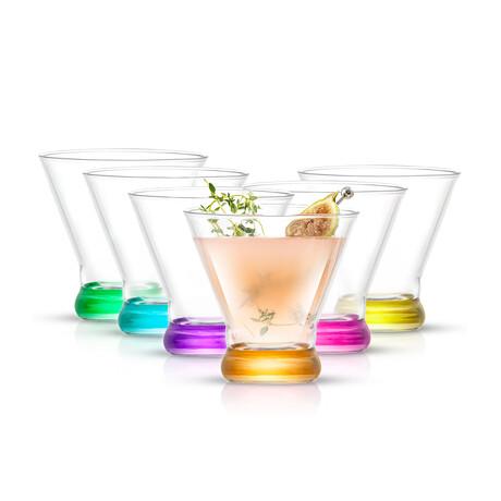 Kolor Martini Glasses // 8 oz // Set of 6