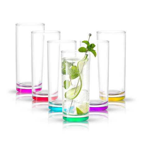 Kolor Highball Glasses // 11.9 oz // Set of 6