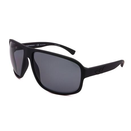 Emporio Armani // Men's EA4130-504281 Matte Sunglasses // Black