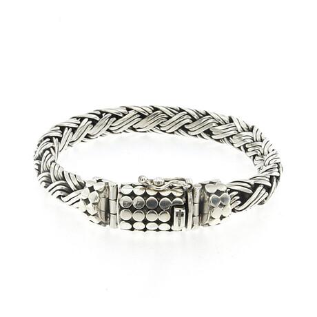Sterling Silver Woven Design Bracelet