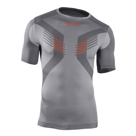 Iron-Ic // Short Sleeve Tech T-Shirt // Silver (S/M)