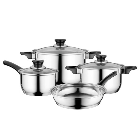 Essentials Gourmet // 7-Piece // Stainless Steel Cookware Set