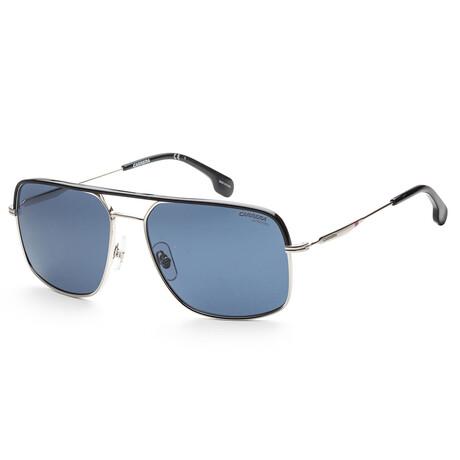 Carrera // Unisex CA152S-010-KU Sunglasses // Silver + Blue