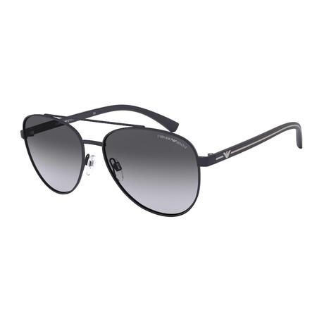 Emporio Armani // Men's EA2079-30928G58 Matte Sunglasses // Blue + Gray Gradient
