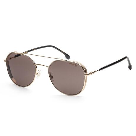 Carrera // Men's CA222GS-J5G-IR Sunglasses // Gold + Gray