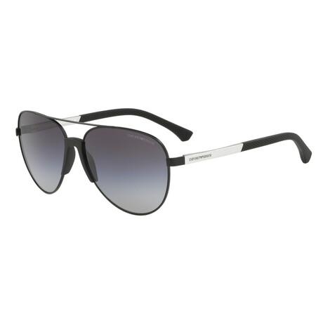 Emporio Armani // Men's EA2059-32038G61 Matte Sunglasses // Brown + Gray Gradient