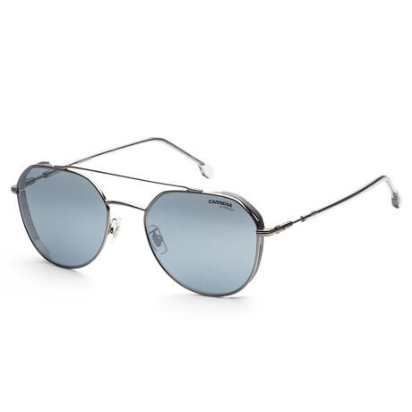 Carrera // Men's CA222GS-KJ1-61 Sunglasses // Silver + Blue Silver Mirror