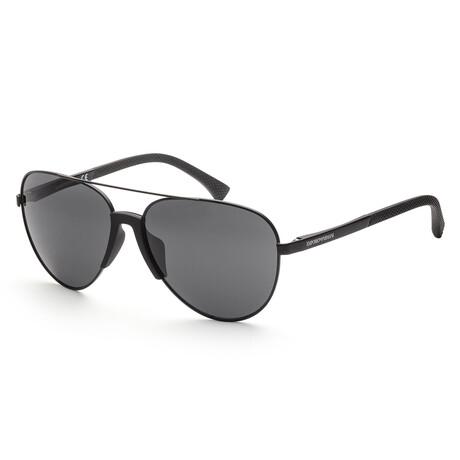 Emporio Armani // Men's EA2059F-32038761 Matte Sunglasses // Black + Gray