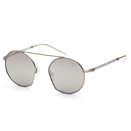 Emporio Armani // Men's EA2078-30456G50 Matte Sunglasses // Silver + Light Gray Mirror