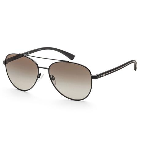 Emporio Armani // Men's EA2079-30018E Matte Sunglasses // Black + Green Gradient