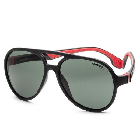 Carrera // Unisex CA5051S-807-QT Sunglasses // Black + Green