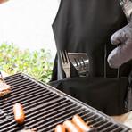 BBQ Apron Tote Pro Grill Set
